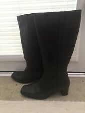 Van Dal Womens Arlberg Brown Leather Knee High Boots Size 3.5 Excellent Conditio
