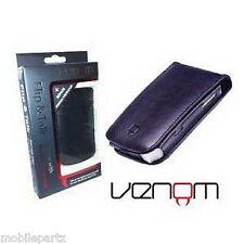 Venom Blackberry Bold 9700 9780 Negro Flip & hablar Cartera / Funda Protector De Pantalla