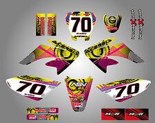 Full Custom Graphic Kit Honda CRF 70 / 80 / 100 - 2002 / 2010 Neon style decals