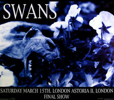 Swans Poster 1997 Final Show London Original Poster by Frank Kozik S/N