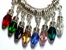 CRYSTAL CHRISTMAS LIGHT CHARM FITS EUROPEAN BRACELETS - BUY 2 GET 1 FREE