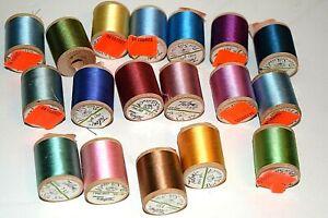 Lot of 18 Vintage Talon Pure Silk Thread