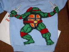 NINJA RAPHAEL  JUMPER  NEW HAND KNITTED SIZE 4/5