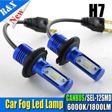 2X Canbus H7 High Power SEL 12 SMD LED Fog DRL White Light Bulbs 1800LM DC12-24V