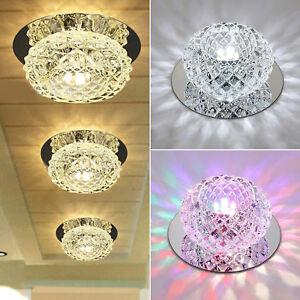 5W Crystal Ceiling Light LED Light Lamp Bedroom Living Room Recessed Spotlights