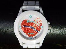 lot revendeur de 5 montres silicones blanches fashion