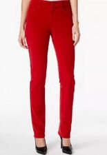 16 NEW! NYDJ MARILYN STRAIGHT CARDINAL RED CORDUROY PANTS