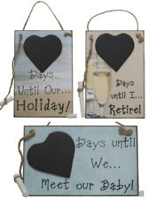 Birthday Retirement Baby Holiday Countdown Sign Board with Chalk