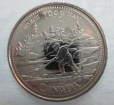 1999 CANADA 25¢ MARCH MILLENIUM SERIES BRILLIANT UNCIRCULATED QUARTER