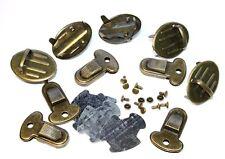 Taschenverschluss Steckschloss / Mappenschloss 25x33mm, 5 Stück altmessing