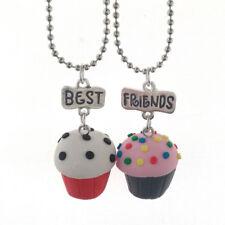 1 Set Halsketten Freundschaftsketten Muffin Bunt, 2 Stück Schmuck Kette Anhänger