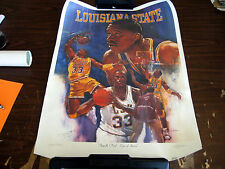 *Shaquille O'Neal SIGNED Poster LSU Kim Fujiwara Art Center of Attention