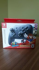 Nintendo Switch Pro Controllerwith Super Mario Odyssey Full Game Download