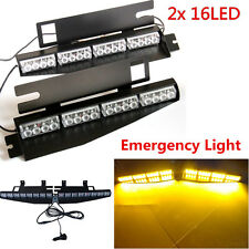 32led 32W Amber Visor Light Panel Strobe Light Bar Emergency Warning Flash Lamp