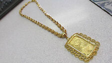 24k Gold Suisse One Ounce .9999 Gold Pendant in 24k with 18k Necklace Make Offer
