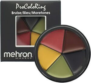 Mehron Makeup ProColouRing 5 Color Bruise Wheel for Special Effects 28g