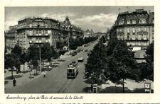Postcard Carte Postale Tram Tramway Luxembourg Place de Paris Luxemburg
