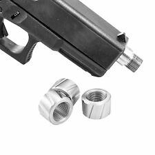 FP2 CustomMuzzleBrakes Glock 9/16-24 40 Stainless Steel Thread Protector FLUTED