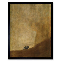 Goya Dog Painting Wall Art Print Framed 12x16