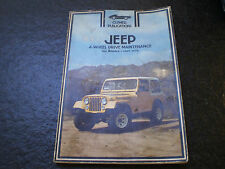 jeep 1969-1978 repair user manual cj3 cj5 cj6 cj7 wagoneer