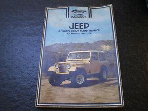Jeep 1969-1978 Repair Manual cj3 cj5 cj6 cj7 Wagoneer