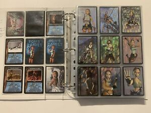 COMPLETE TOMB RAIDER CCG COLLECTION - ALL CARDS PROMO AND UR FROM ALL SETS