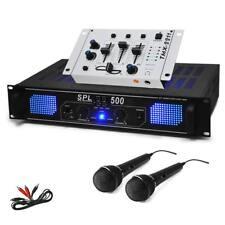 SET DJ EQUIPO PA HIFI AMPLIFICADOR 1600W + MESA MEZCLAS + 2 MICROS + CABLE RCA