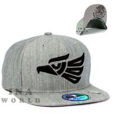 Mexican hat Hecho En Mexico Eagle Snapback Flat bill Baseball cap- Heather Gray