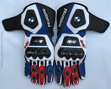 BMW Motorbike Leather Motogp Riding Gloves  All Sizes Available