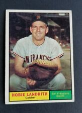 ORIGINAL1961 TOPPS SAN FRANCISCO GIANTS BASEBALL CARD #114 HOBIE LANDRITH EXCELL