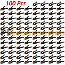 "100 Pcs 2.7"" inch Mini Plastic Spring Clamps Tips Tool Clip 1"" Jaw Opening"