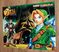 The Legend of Zelda Ocarina of Time / Tomb Raider III rare Poster 55x41cm