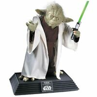 Rubies Star Wars Yoda 1:1 Replica Life Size Collectible Statue w/ Lightsaber NEW