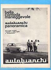 QUATTROR963-PUBBLICITA'/ADVERTISING-1963- AUTOBIANCHI BIANCHINA PANORAMICA (A)