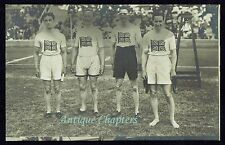 1912 Stockholm Olympic Games British 4x100m Relay Team Postcard B109
