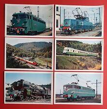 6 x Eisenbahn AK Frankreich Lokomotive E-Lok BB-15501, Edelweiss   ( 23230