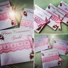 INVITI PARTECIPAZIONI COMUNIONE MATRIMONIO COMPLEANNO  BATTESIMO LAUREA CRESIMA