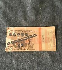 ZZ Top 1980 Concert Ticket Stub Atlanta Fox Theater