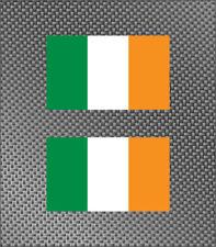 """2x Irish 4"""" State Flag Vinyl Sticker Die Cut Decals Ireland Free Ship"""