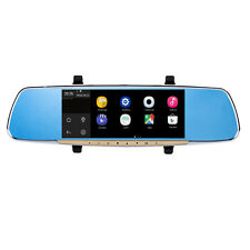 "7"" Android 4.4 Car GPS Rear View Mirror Monitor+Camera+WiFi+Bluetooth+1080P DVR"