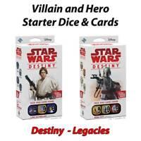 Star Wars Destiny - Legacies Hero / Villain Starter Cards & Dice - Free Postage