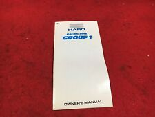 NOS VINTAGE HARO GROUP 1 RACING BIKE OWNERS MANUAL FR 1989 HARO GROUP 1 BIKE KIT
