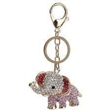 Porte-clés Strass Forme en Éléphant Accessoires Cadeau Décor Bijou pour Sac