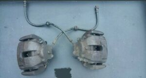 Bmw E46 330i Front Brake calipers and Carriers,upgrade,Perfect working order