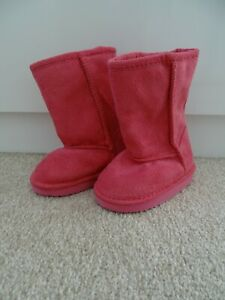 BRAND NEW Baby Girl's Pink Suede Effect Winter Boots from Marks and Spencer