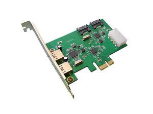 Controllore Pcie 2 Porte USB 3 E SATA III 6GB