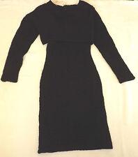 BNWT WACKERHAUS UK 8 EUR 36 BLACK E5 IMAN DRESS COBBLE STONES TEXTURED FABRIC