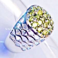 Echte Edelstein-Ringe im Cluster-Stil mit Peridot