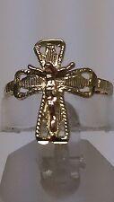 14K Gold  Crucifix , Cross Ring  Anillo con cristo oro de 14K GUARANTEED