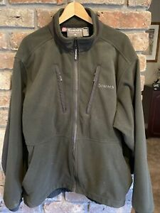 Simms Fishing Fleece XL Green GREAT CONDITION